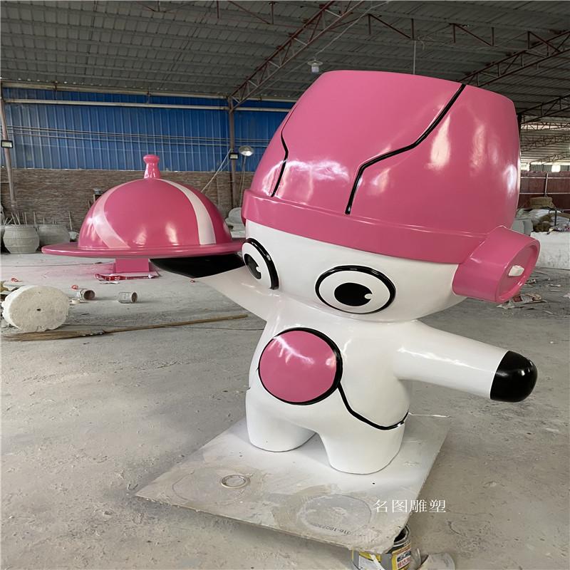 广州机器人主题餐厅雕塑 玻璃钢卡通雕塑造型136427505