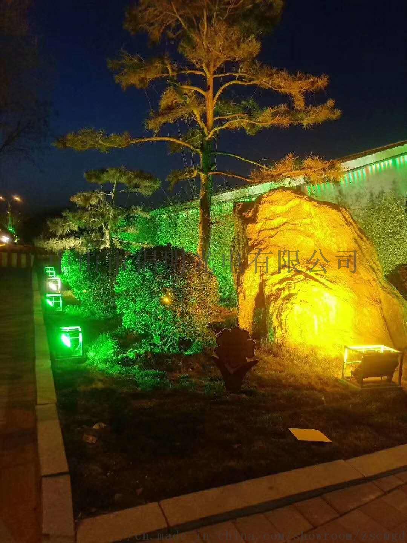 室外防水泛光灯 LED投光灯 彩色投射灯 草坪 庭院照树灯 柱子聚光灯847673515