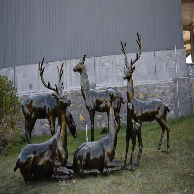 玻璃钢长颈鹿雕塑 动物鹿雕塑 公园绿地景观摆件141573885