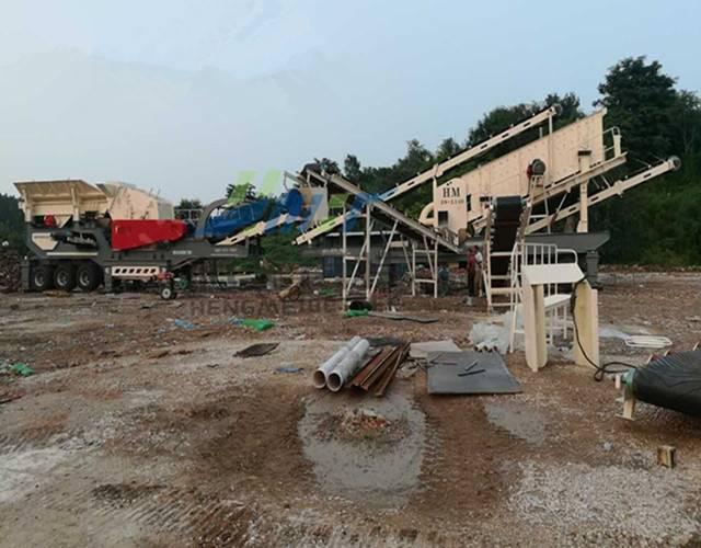 日照1500吨建筑垃圾破碎处理-移动式建筑垃圾破碎站厂家价格800438952
