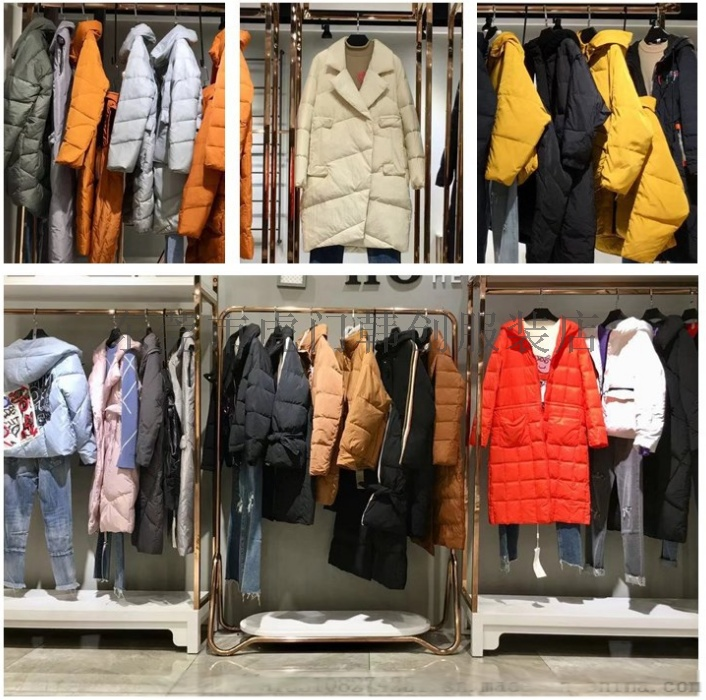 便宜女装棉衣外套时尚韩版羽绒服中长款外套清货61561002