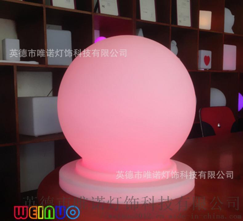 滚塑加工直销交通设施太阳能发光亮光圆球形防撞墩粉光.jpg