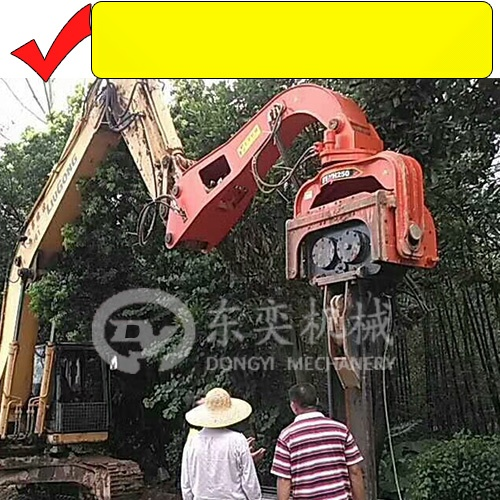挖掘机打钢板桩机 打拔拉森钢板桩 打桩锤厂57552815