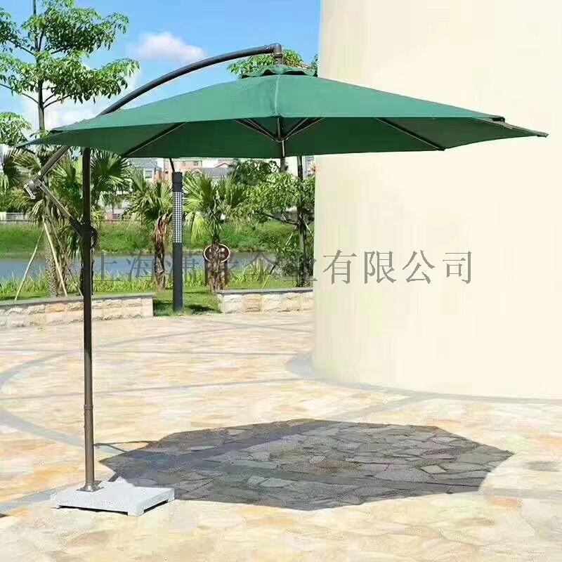 露台休闲遮阳伞方形庭院罗马伞手摇带灯2米4沙滩伞849756242