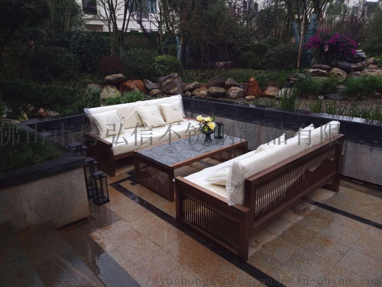 休閒不鏽鋼沙發茶几組合 商場不鏽鋼沙發870383975
