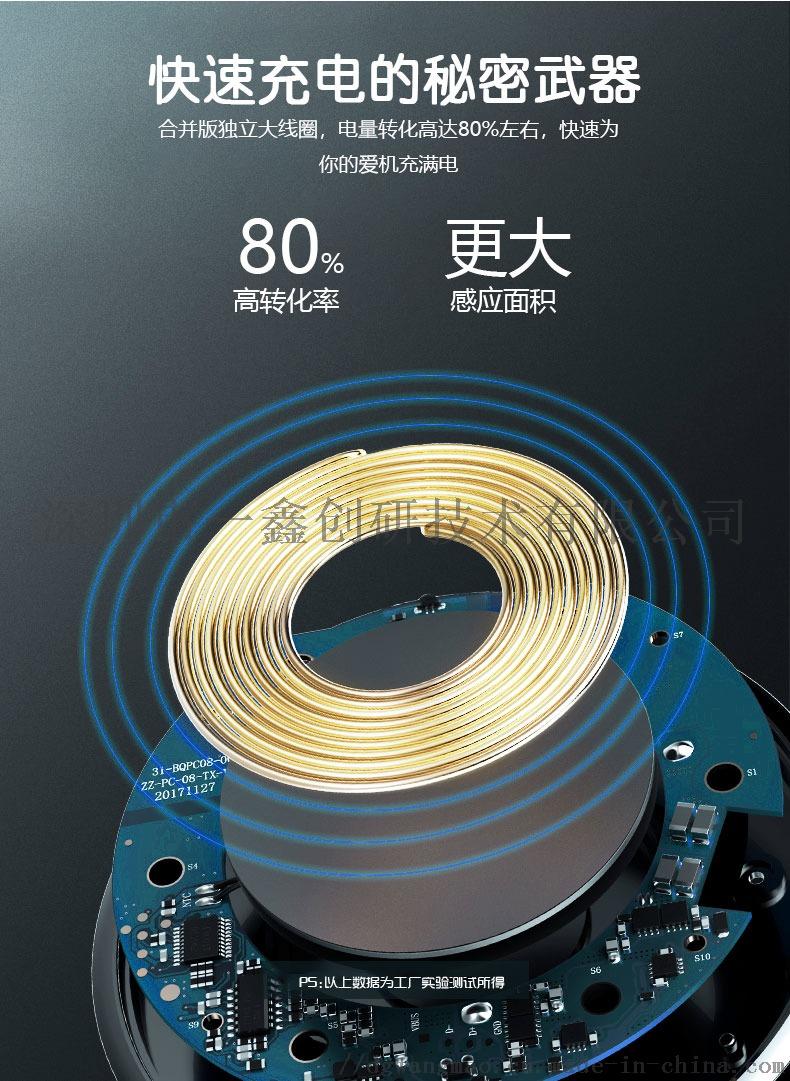 車載無線充電器手機無線充電器支架批發定製一鑫創研71973975