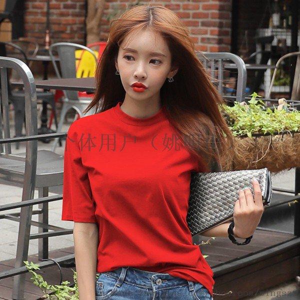 韓版短袖T恤夏裝女裝純棉拉架印花時尚靚麗女裝T恤769493535