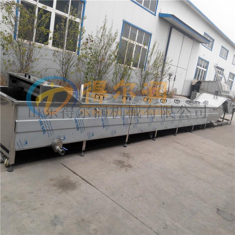 土豆莲藕漂烫预煮设备 豆角漂烫机 网带式漂烫线86984122