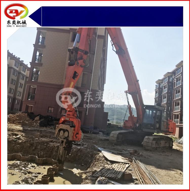 日立挖掘机改装打桩机 打拔桩机 打拔钢板桩机59800275
