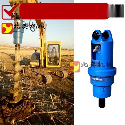 勾機鑽土機工作原理 挖掘機螺旋鑽土機62667415