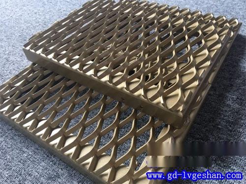 铝网格吊顶厂家 氟碳铝网板定做 菱形铝板网