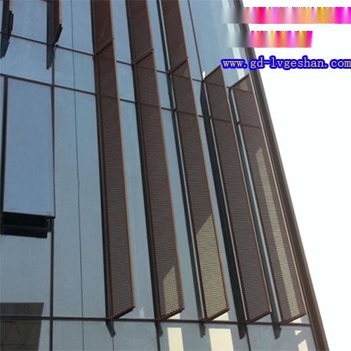 外墙拉网板效果图 铝网板安装 户外拉伸网价格