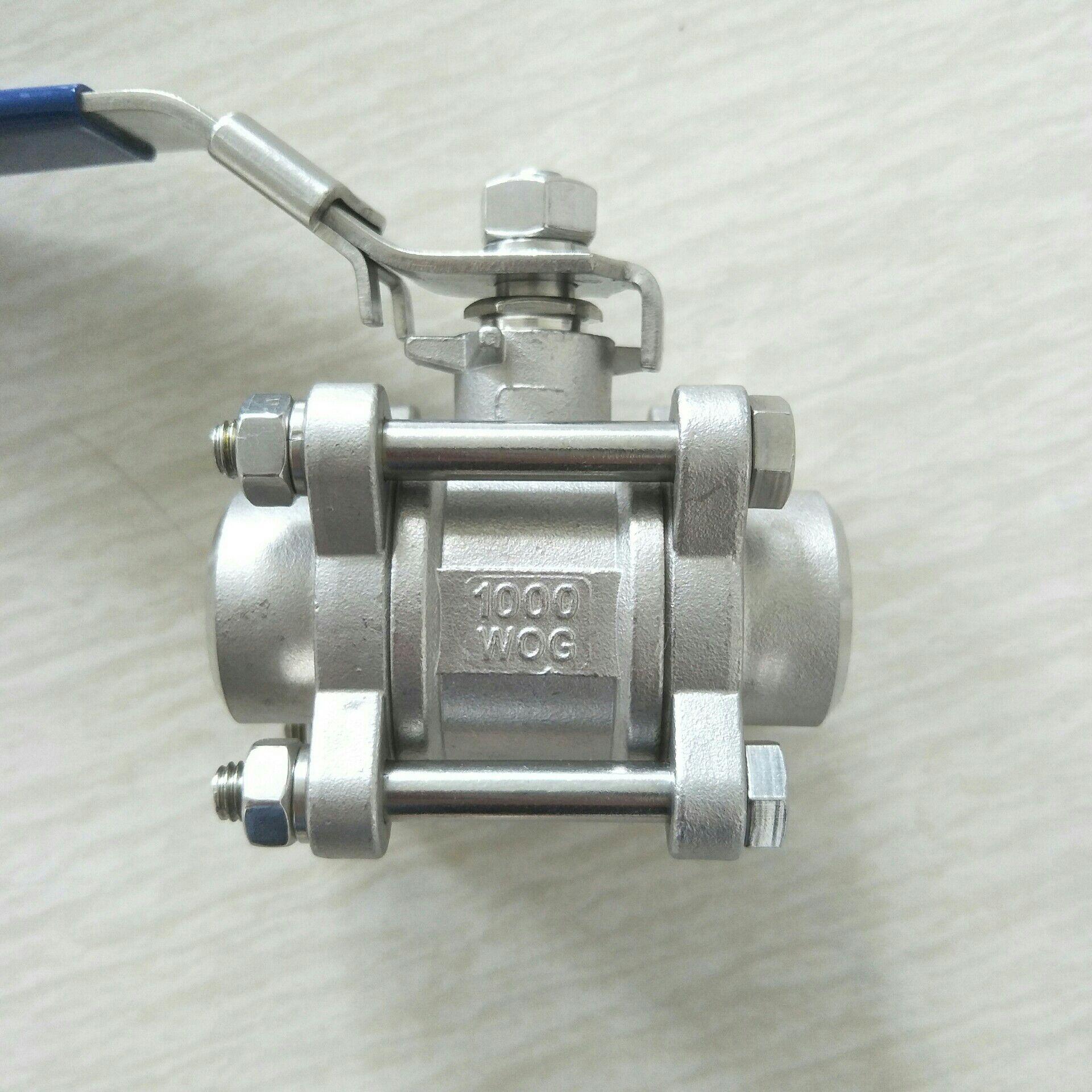 不锈钢焊接三片式球阀 DN25 3PC球阀1寸810953402