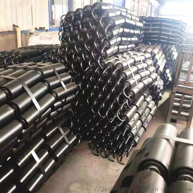 水泥厂胶带机35度上托辊 108直径35度上托辊组866942972