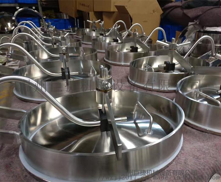 供應各種衛生級常壓橢圓外開式吊環人孔蓋YAC108340455