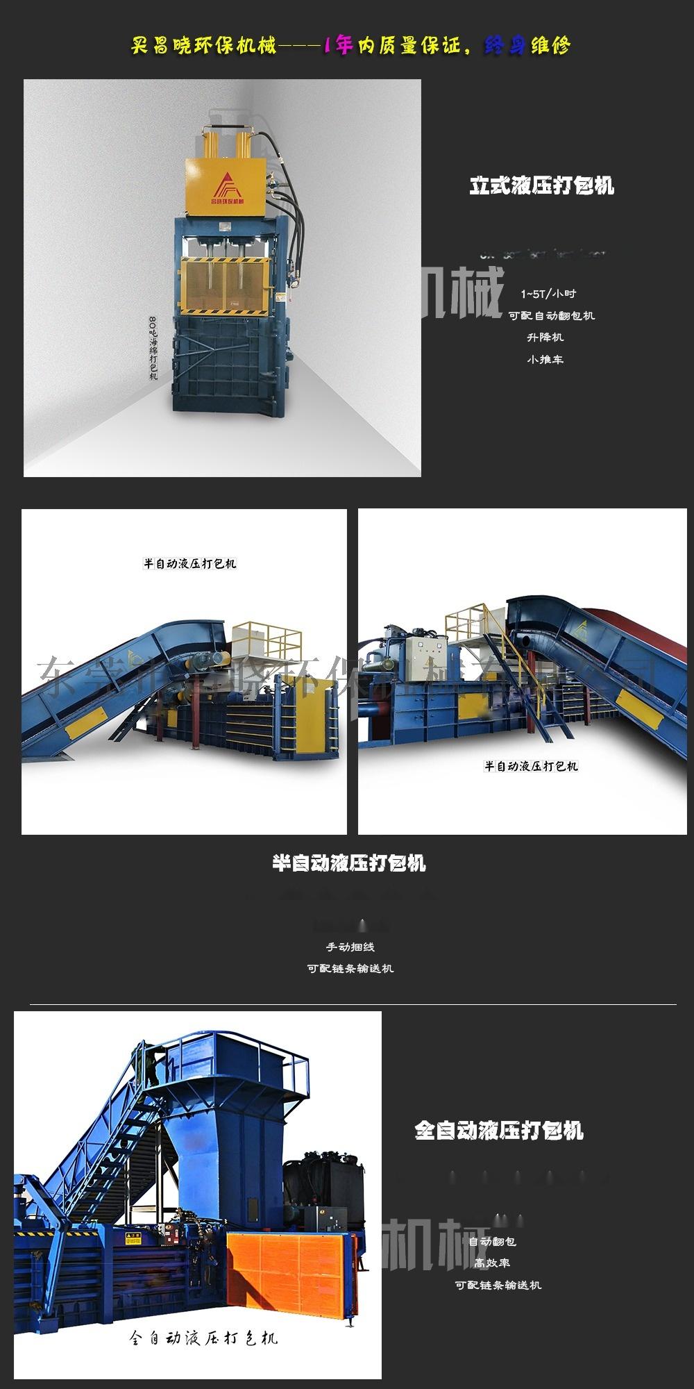 东莞200吨全自动废纸打包机 卧式77458175