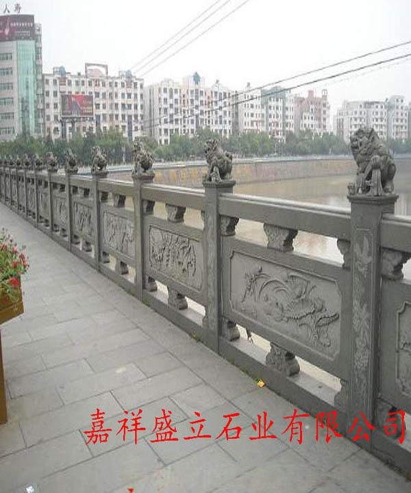 河边石雕护栏