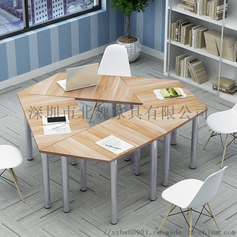 梯形书桌椅拼接梯形培训桌自由组合课桌椅124365785