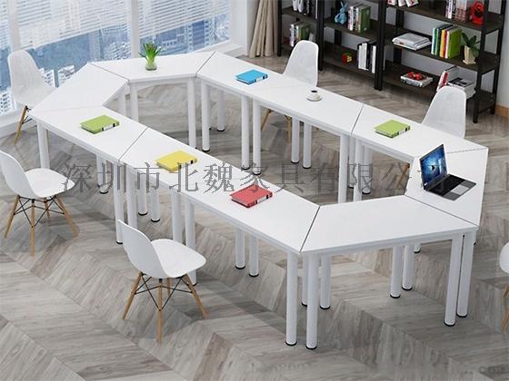 梯形洽谈    桌组合拼接简约现代培训桌876212895