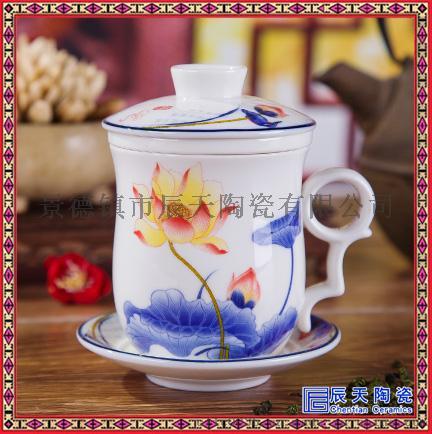 创意卡通陶瓷杯 订做双层陶瓷茶杯 订制纯色陶瓷茶杯60884305