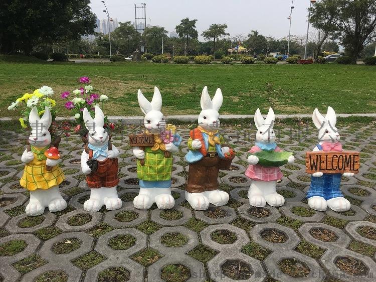 玻璃钢树脂工艺品 户外玻璃钢仿真兔子动物卡通摆件85567265