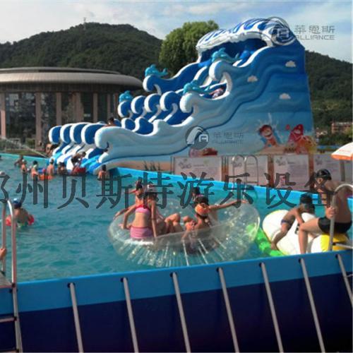 黑龍江佳木斯支架游泳池廠家直銷移動水上樂園776070075