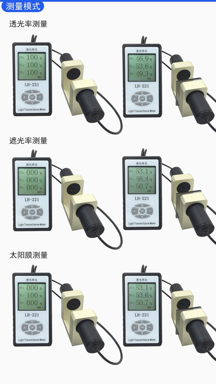 LH-221三波段玻璃透光率計太陽膜測試儀透光率儀84225225