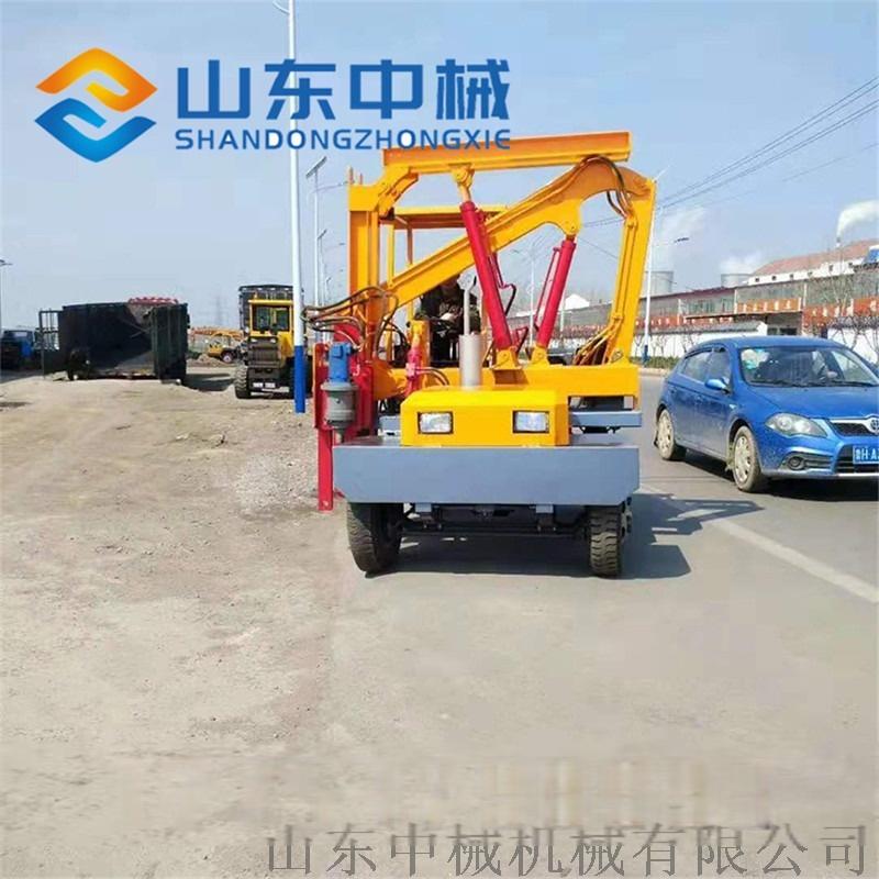 厂家直销高速公路护栏打桩机 液压公路护栏打桩机837889742