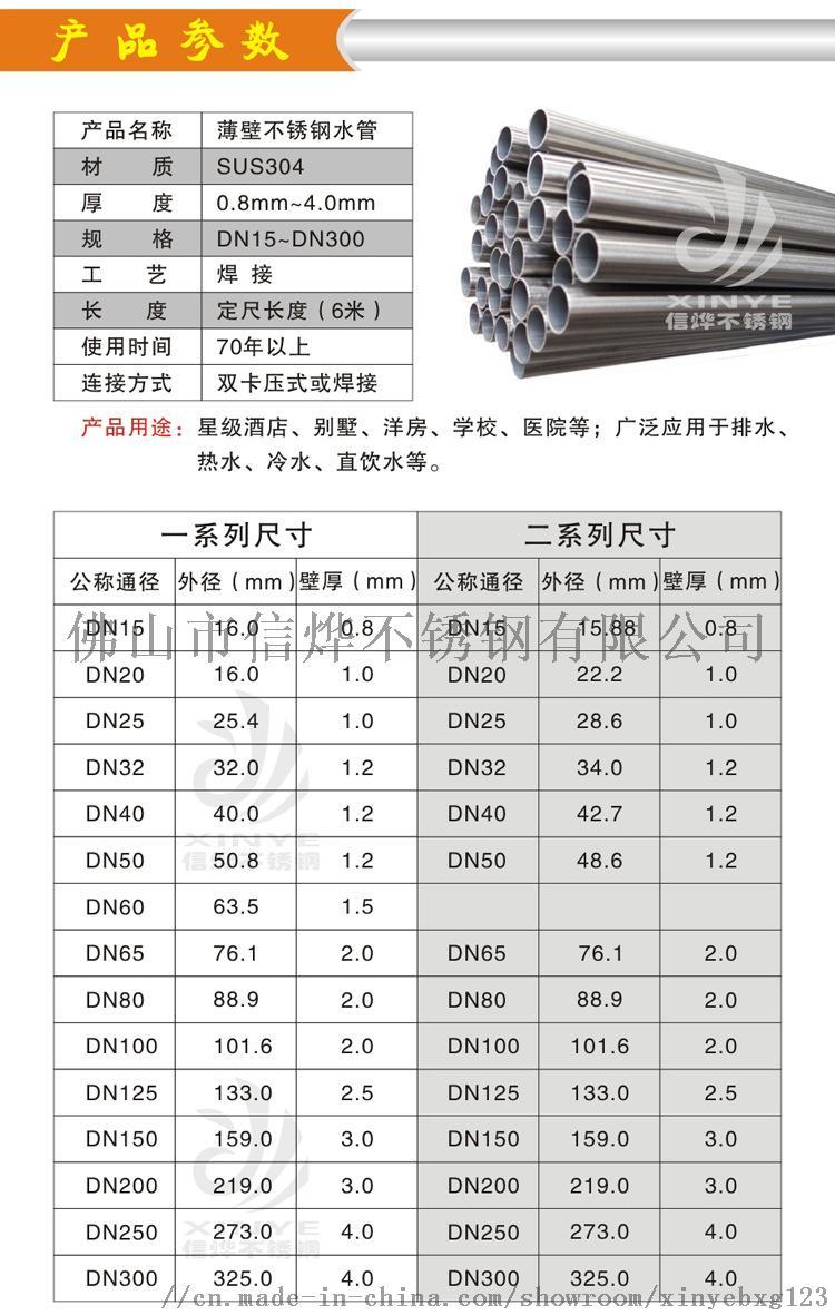 304國標薄壁不鏽鋼水管DN15卡壓不鏽鋼水管85161765