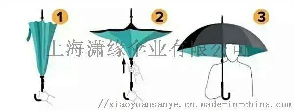 免手持可站立汽车反向伞、一把颠覆传统思维的雨伞、双层伞面、里层伞面镂空71765042