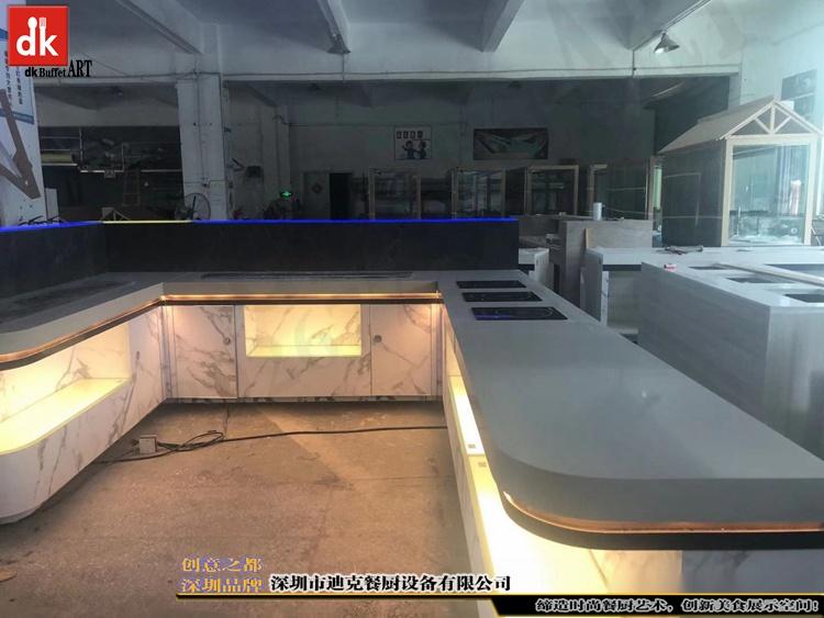 杭州省人民医院体检中心自助餐台 单位用餐取餐台设计制作4.jpg