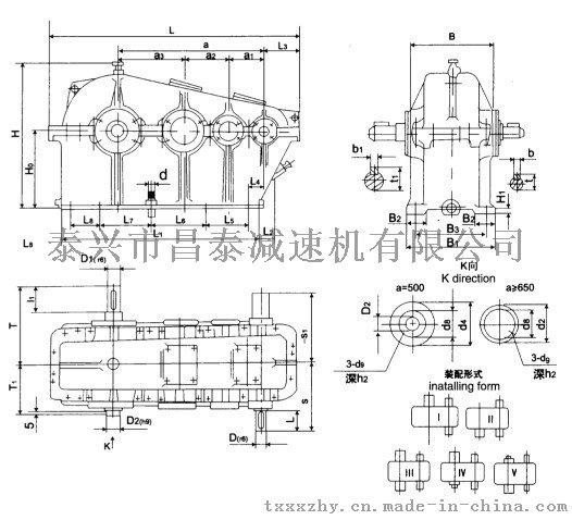 【泰興昌泰】ZS75-71圓柱齒輪減速機772695235