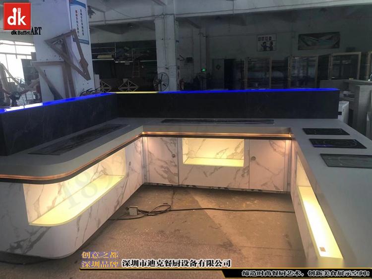 杭州省人民医院体检中心自助餐台 单位用餐取餐台设计制作3.jpg