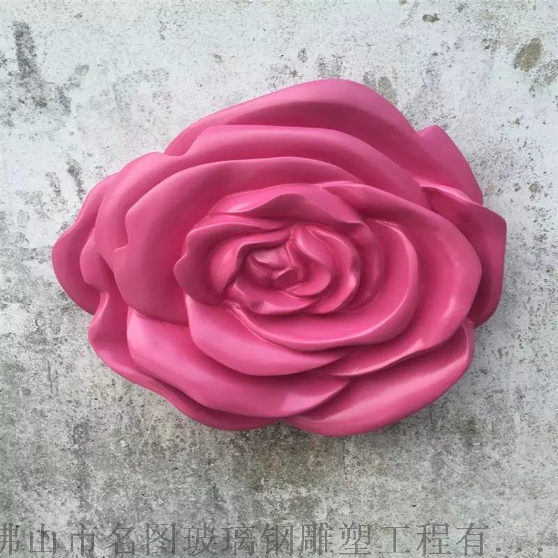 揭阳玻璃钢玫瑰花造型雕塑室内美陈装饰116069495
