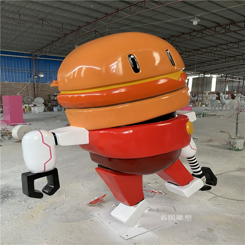 广州机器人主题餐厅雕塑 玻璃钢卡通雕塑造型904957275