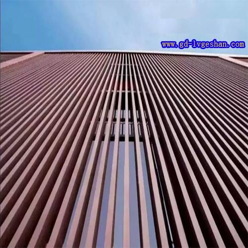 铝方通幕墙效果图 外墙铝方通 木纹铝方通.jpg