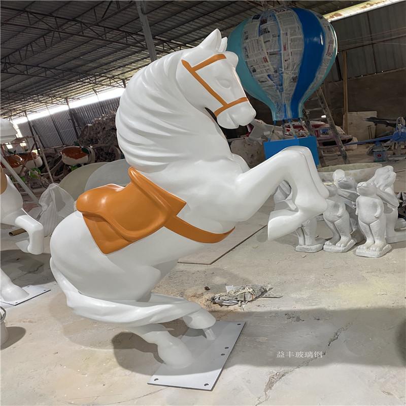 圣诞节装饰玻璃钢白马雕塑 仿真动物雕塑造型953644525