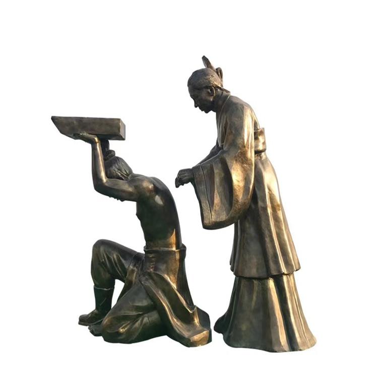 玻璃钢农耕雕塑 户外景观仿铜人物雕塑146526495