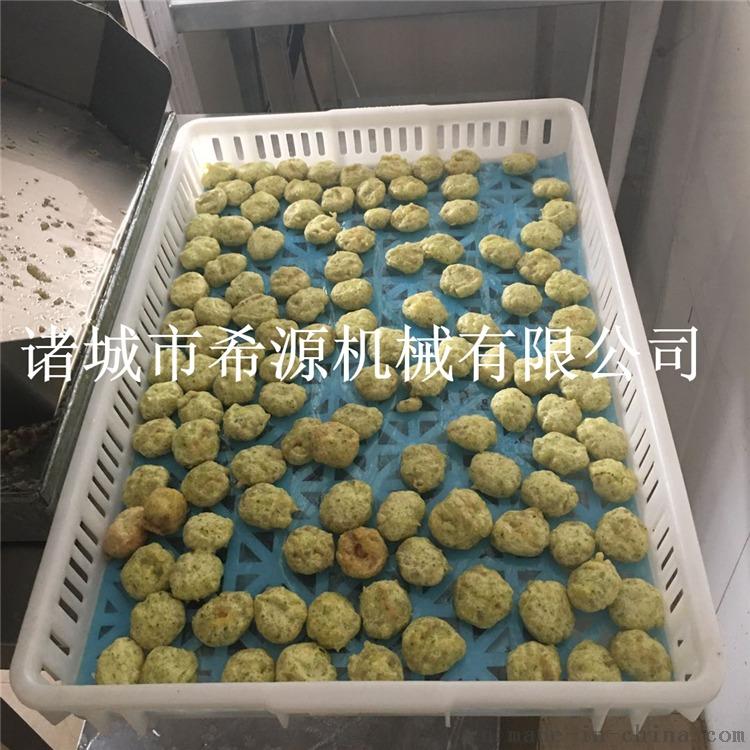 热销烟台鱼肉饼油炸机 速冻鱼饼上浆油炸生产线843092302