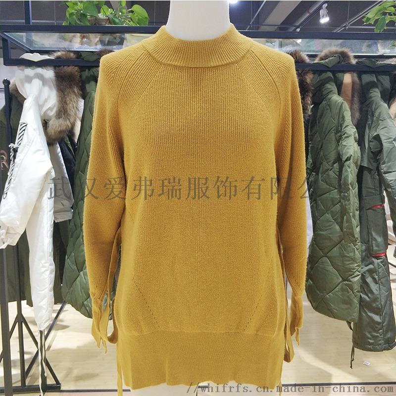 新时尚女装七分米18年冬装羽绒服大衣尾货走份800270195
