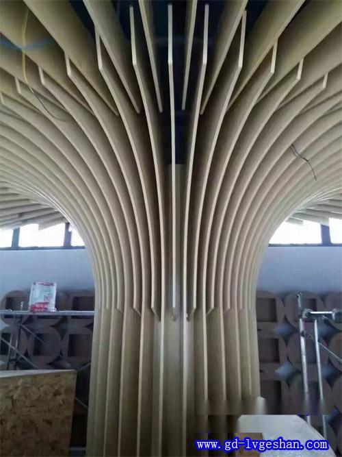 铝板包柱造型施工图 铝合金包柱图片 铝方通定制.jpg