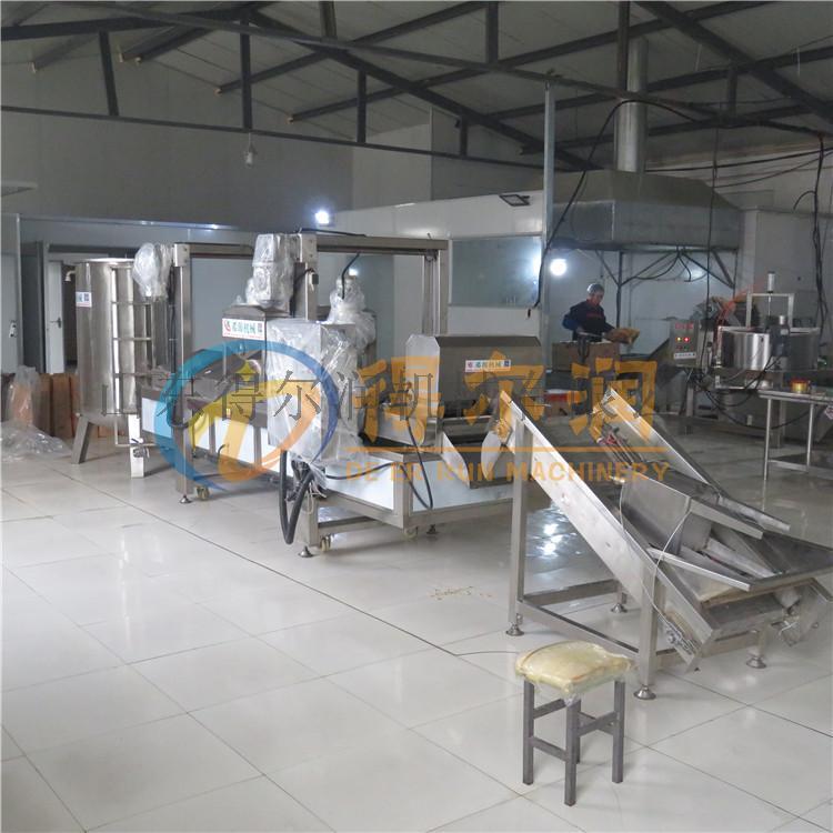 山药片加工生产线 膨化山药片油炸设备 高温油炸机774817722