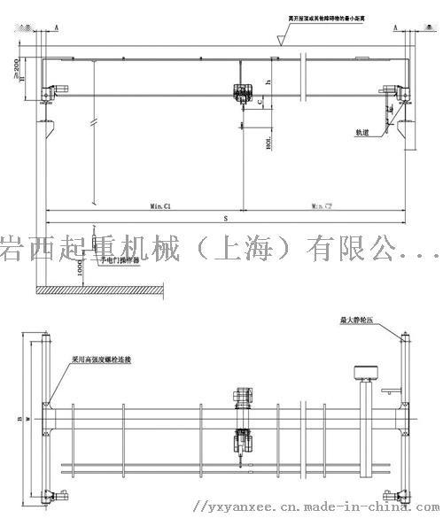上海2t欧式单梁/单梁行车/1-5t单梁行车55604552