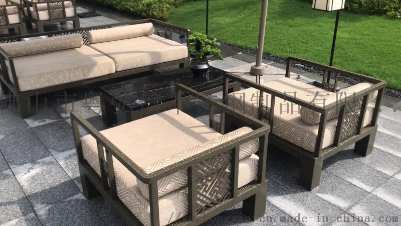 休闲不锈钢沙发茶几组合 商场不锈钢沙发870383995