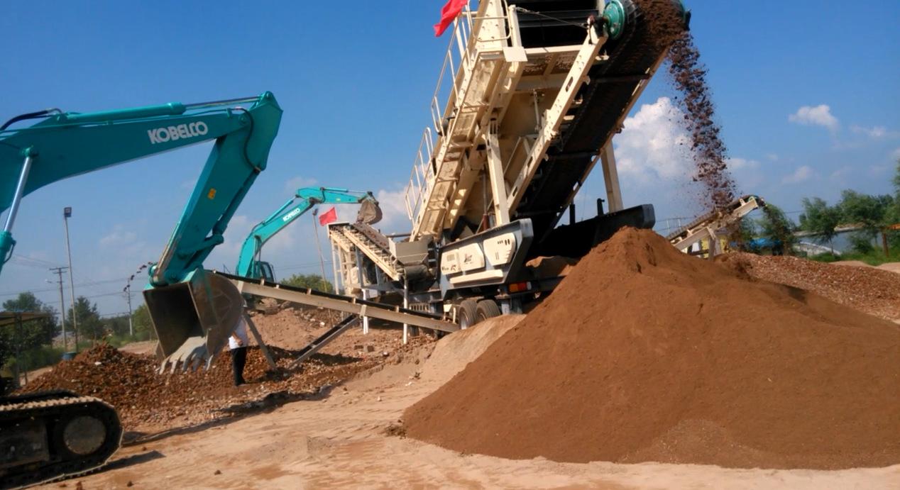 渣土建築垃圾破碎站 建築垃圾移動破碎站 人工織沙生產線799608442
