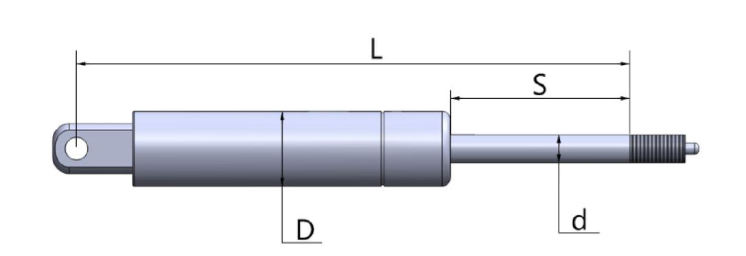 手动调节气弹簧 钢制气弹簧137304105