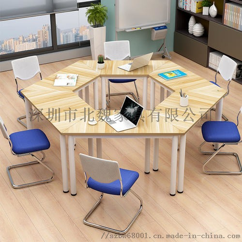 广东梯形洽谈培训桌组合拼接简约现代培训桌124384975