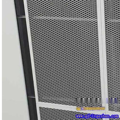 拉网板隔断效果图 铝网板安装 金属铝网隔断报价