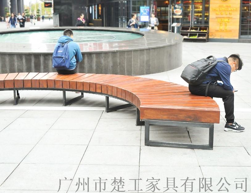 钢木园林景观座椅,室外木制创意休闲坐凳122969295