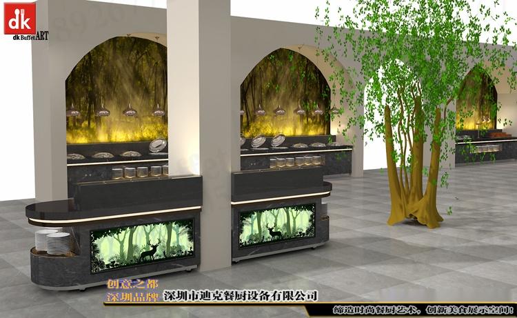 江西自助餐厅石英石自助餐台 整体餐厅餐台设计 广东专业设计酒店自助餐台 自助餐厅设计 酒店自助餐台图片布菲台 (6).jpg